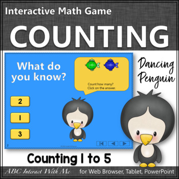 Number Sense Counting to 5 {Dancing Penguin}