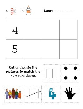 Number Sense - Cut and Paste
