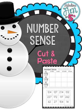 Number Sense Cut and Paste