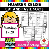 Number Sense Cut and Paste Sorts (Numbers 1-20)