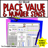 Daily Math CCSS Aligned Place Value Number Sense Worksheets Centers 1st Grade 6