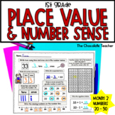 Number Sense Daily Math for First Grade Month Numbers 20-50