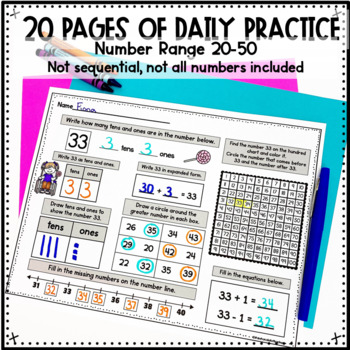 Number Sense Activities Daily Math Month 2 Number and Operations in Base 10
