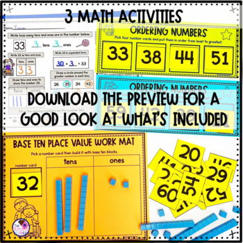 Daily Math CCSS Aligned Place Value Number Sense Worksheets Centers 1st Grade 2
