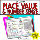 Daily Math CCSS Aligned Place Value Number Sense Worksheets Centers 1st Grade 3