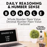 Digital Number Sense Reasoning BUNDLE! Place Value Decimal