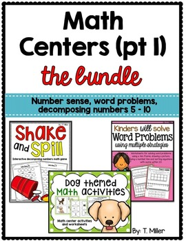 Number Sense Decomposing Numbers Word Problems Within 10