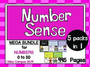 Number Sense Development to 50 (BIG BUNDLE)