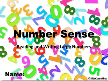 Number Sense Digital Interactive Notebook