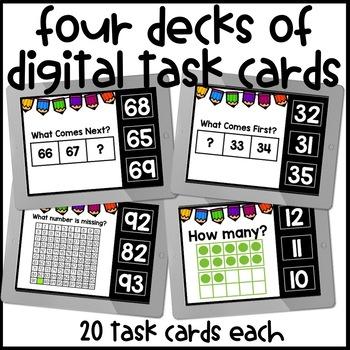 Number Sense Digital Task Cards for Boom Learning