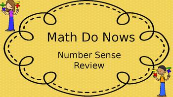 Number Sense Do Nows