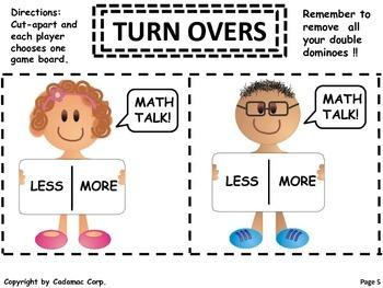 Kindergarten and Grade One Number Sense Game for Partner Fun