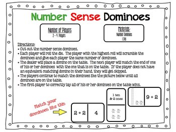 Number Sense Dominoes