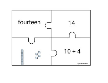 Number Sense Double Digit Puzzles