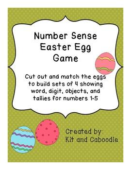 Number Sense Easter Egg Game 1-5