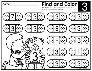 Number Recognition: Find and Color