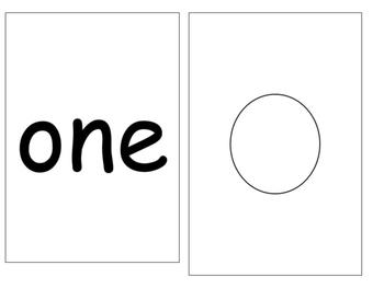 Number Sense Flashcards 1-10