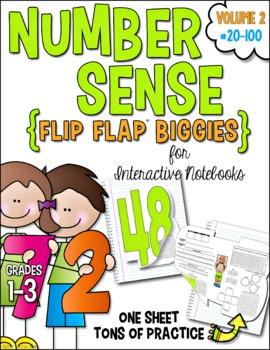 Number Sense Flip Flap Biggies 20-100