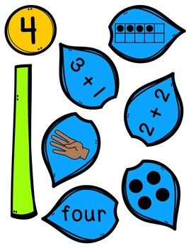 Number Sense Flower Puzzles 2-10