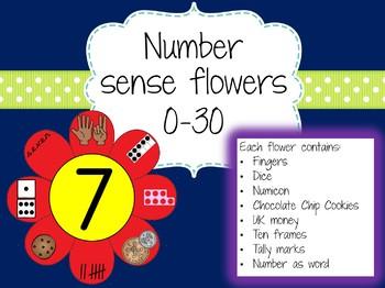Number Sense Flowers 0-30