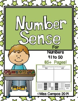 Numbers 41 to 50 Fluency