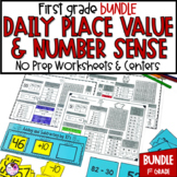 Number Sense and Place Value Math Daily Worksheets For First Grade