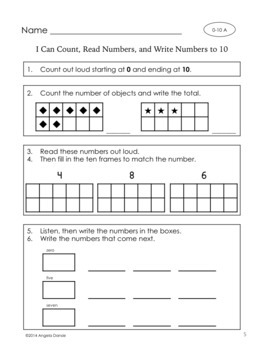 Number Sense Freebie  (Numbers to 20)