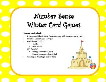 Number Sense Game Cards~Summer