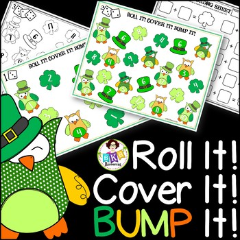 St. Patrick's Day Game ● Roll It! Cover It! BUMP It! ● Counting Game