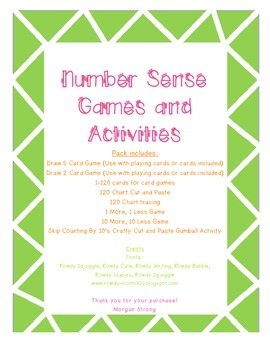 Number Sense Games & Activities: 120, Skip Counting, Ordering & Comparing Number