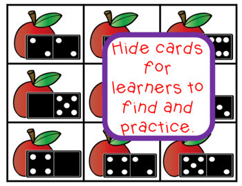 Math Center Game for Math Facts Back to School Apple Theme