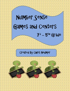 Number Sense Games And Centers 3rd Grade 5th Grade Nbt By Chris Neumer