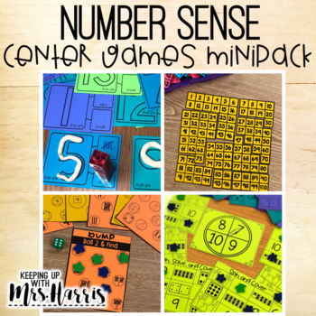 Number Sense Games and Centers Minipack
