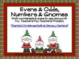 Number Sense Gnomes *FREEBIE* Companion to Santa's Christmas Math & Lit. Centers