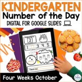 Number Sense  Google Slides™ Kindergarten Number of the Da