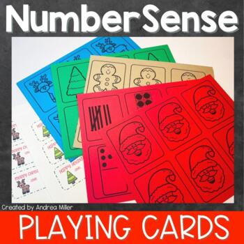 Number Sense Holiday Game Cards~Christmas