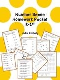 Number Sense Homework Packet