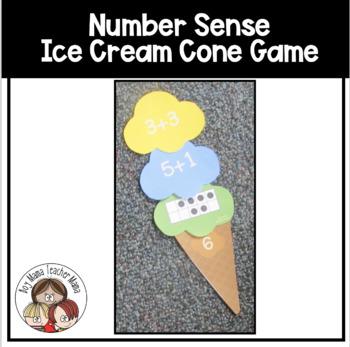 Number Sense Ice Cream Cone Game