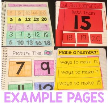 Number Sense Interactive Notebook 0-20