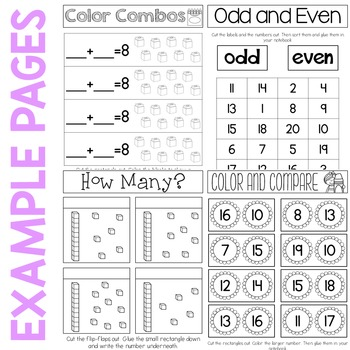 Number Sense Interactive Notebook 0-20