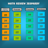 Number Sense Jeopardy (Proportions, Percents, and Fractions)