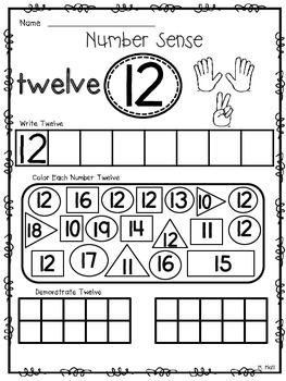 Number Sense Know How! {THE TEENS} Number Worksheets For Eleven - Twenty
