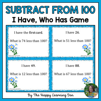 Number Sense - Less than 100, I Have, Who Has?
