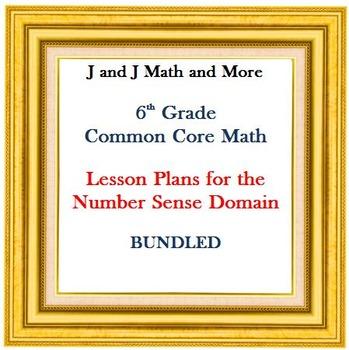 Lesson Plans:  Number Sense: BUNDLED
