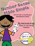 Number Sense Made Simple
