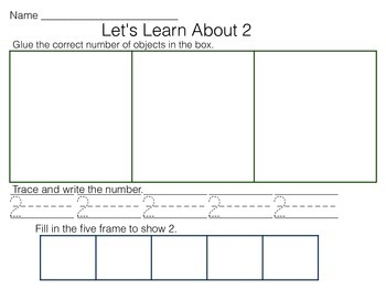 Number Sense Maps, 1-10, Numerals, Counting