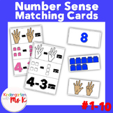 Number Sense Matching Cards: Color and Black and White #1-10