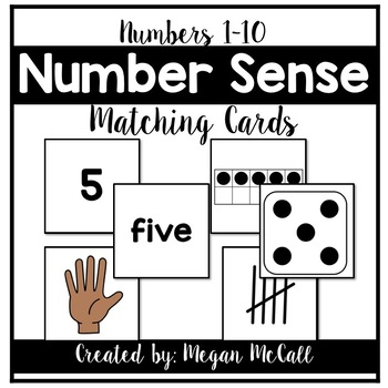 Number Sense Matching Cards (Numbers 0-10)