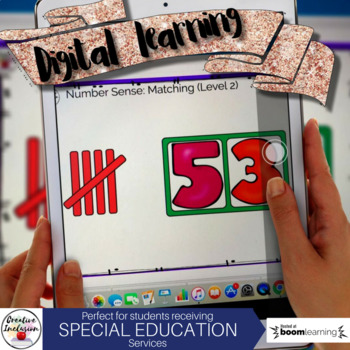 Number Sense: Matching tally marks to numerals: DIGITAL LEARNING TOOL