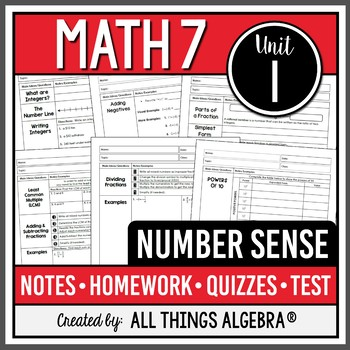 Number Sense (Math 7 – Unit 1)